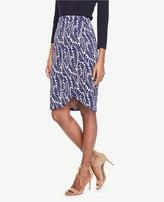 Ann Taylor Petite Leaf Petal Pencil Skirt