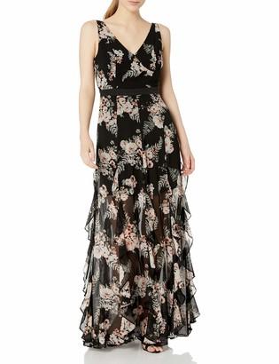 BCBGeneration Women's Cascade Ruffle Maxi Dress