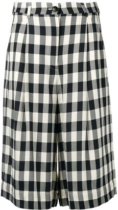 Essentiel Antwerp Gingham Long Shorts