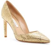 Diane von Furstenberg Printed Gold Python Leather Lille d&Orsay Pump