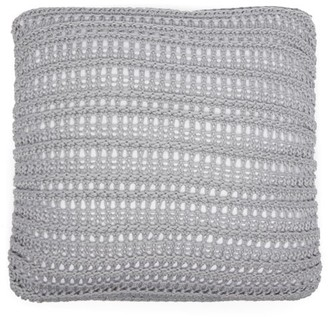 Brunello Cucinelli Medium Openwork Lace-knitted Cotton Cushion - Dark Grey