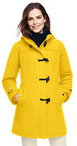Lands' End Women's Squall Duffle Coat-Yellow Dandelion