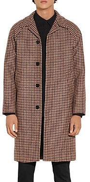 Sandro Camille Wool Houndstooth Coat