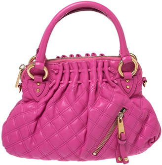 Marc Jacobs Pink Quilted Leather Small Cecilia Satchel