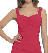 Profile by Gottex Women's Plus Size Solid Tutti Frutti Underwire Bra Tankini Top (16W, )