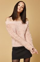 MinkPink Florentine Off-The-Shoulder Sweater