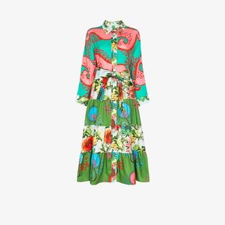 RIANNA + NINA Eleni patchwork print shirt dress