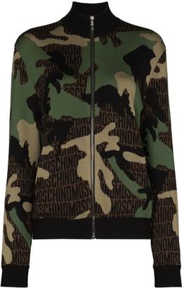 Moschino Camouflage-Print Wool Sweatshirt