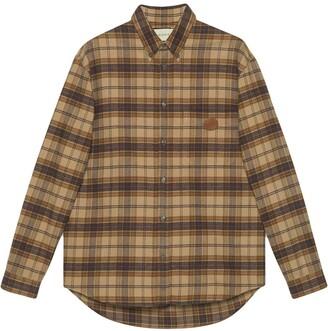 Gucci Plaid Long-Sleeve Shirt
