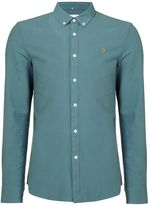 Farah Men's Brewer slim fit button down oxford shirt