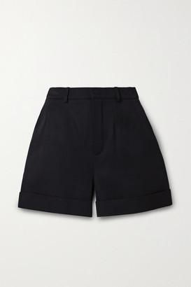 Saint Laurent Wool-twill Shorts - Black