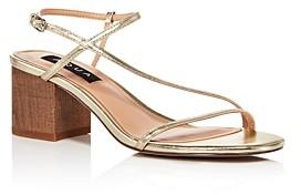 Aqua Women's Amy Strappy Slingback Mid-Heel Sandals - 100% Exclusive