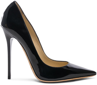 Jimmy Choo Anouk 120 Patent Leather Pump in Black | FWRD