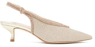 Sophia Webster Giovanna Crystal-embellished Slingback Pumps - Gold