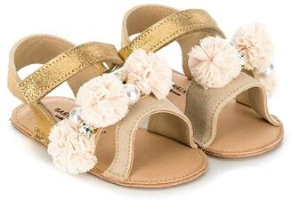 Babywalker Pompom-Embellished Flat Sandals