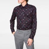Paul Smith Men's Tailored-Fit Navy Mixed-Motif Print Shirt