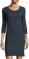 LAmade Mika Striped Knit Slim Dress, Navy