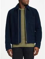 Samsoe & Samsoe Madmax Fleece Jacket, Dark Sapphire