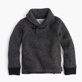 J.Crew Boys' Summit fleece shawl-collar sweatshirt