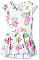 Pumpkin Patch Girl's Rose Print Tunic Plain Dress,3