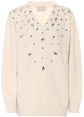 Christopher Kane Embellished cashmere-blend sweater