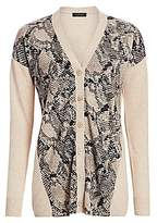 Saks Fifth Avenue Women's COLLECTION Snakeskin Print Cashmere Cardigan