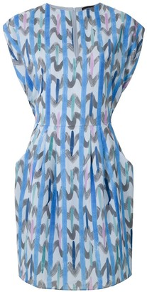 Emporio Armani Abstract-Print Short-Sleeve Dress