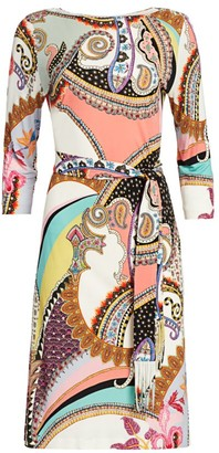 Etro Belted Jersey Dress