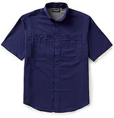Roundtree & Yorke Big & Tall Cooler Comfort Short-Sleeve Solid Cape Back Sportshirt