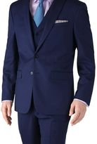 Charles Tyrwhitt Royal blue slim fit twill business suit jacket