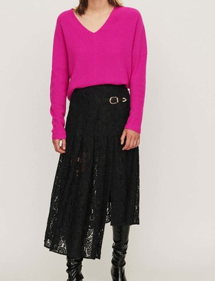 Maje Guipure skirt with paisley detail