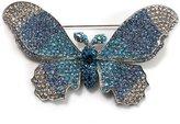 Avalaya Gigantic Pave Swarovski Crystal Butterfly Brooch (Clear&)