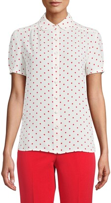 Anne Klein Dot Print Blouse