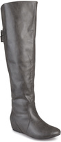 Journee Collection Gray Angel Wide-Calf Over-the-Knee Boot