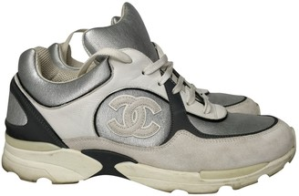 Chanel Silver Cloth Trainers