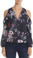 Yumi Kim Stella Floral Print Cold Shoulder Top
