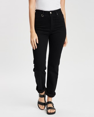 Neuw Women's Black Straight - Marilyn Straight Jeans - Size 24 at The Iconic