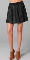 Vegan Leather Pleated Skirt