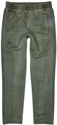 Palm Angels Green Garment-dyed Jersey Trackpants