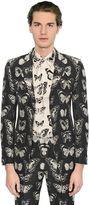 Alexander McQueen Butterfly Wool Blend Jacquard Jacket
