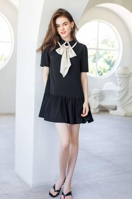 J.ING Wednesday Black Bow Dress