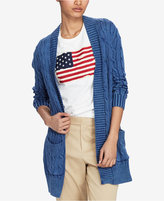 Polo Ralph Lauren Cable-Knit Open-Front Cotton Cardigan