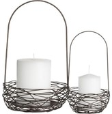 Wire Basket Candleholders