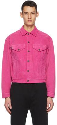 MSGM Pink Corduroy Jacket
