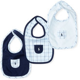 Polo Ralph Lauren Plaid Cotton Interlock Bib Set
