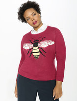 ELOQUII Plus Size Busy Bee Sweater