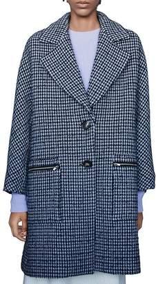 Maje Garly Houndstooth Coat