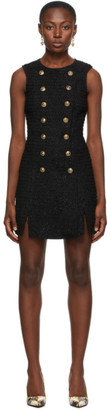 Versace Jeans Couture Black Tweed Short Dress