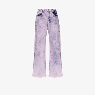Marques Almeida High Waist Acid Wash Jeans