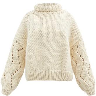 Mr. Mittens Roll-neck Balloon-sleeve Wool Sweater - Ivory